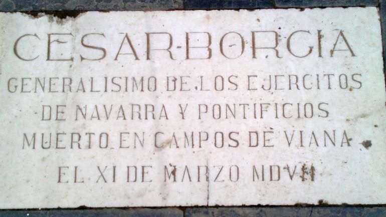 Resultado de imagen de lápida César Borgia Viana